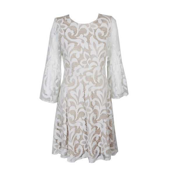 Jessica Howard Ivory Lace Bell Sleeve Lace Dress Boutique